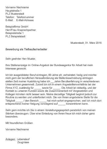Bewerbungsschreiben Ferienjob Mercedes Muster Gt Bewerbung Als Tiefbaufacharbeiter