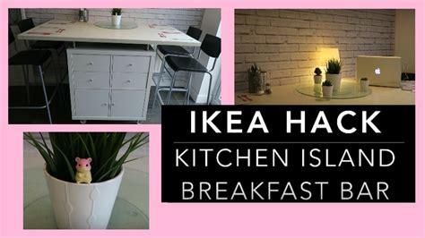 IKEA HACK   DIY Kitchen Island Breakfast Bar Storage Unit