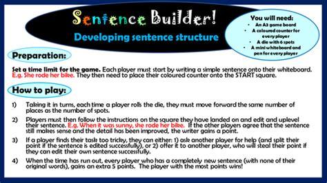 essay structure ks2 ks2 english sentence builder game to develop sentence