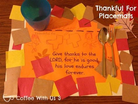religious thanksgiving crafts for best 25 thanksgiving placemats ideas on