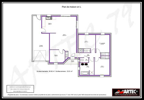 Plan Maison 100m2 Plein Pied 4115 by Plan Maison Plain Pied 100m2