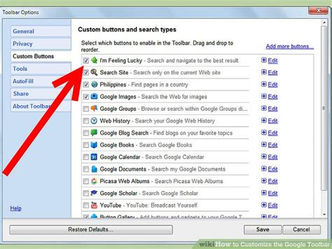 google design toolbar how to customize the google toolbar 10 steps with pictures