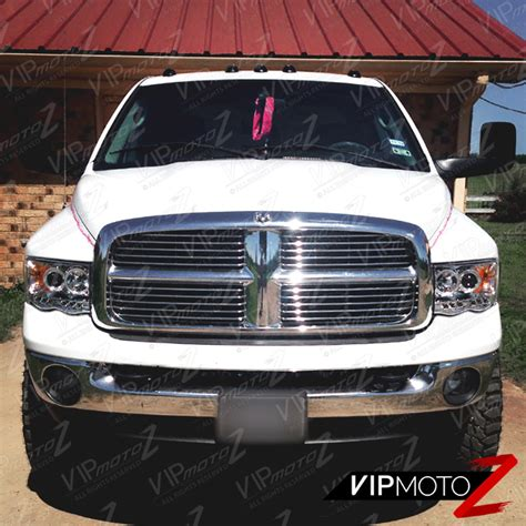 fog light assembly dodge ram 1500 02 05 dodge ram 1500 2500 3500 chrome headlight halo