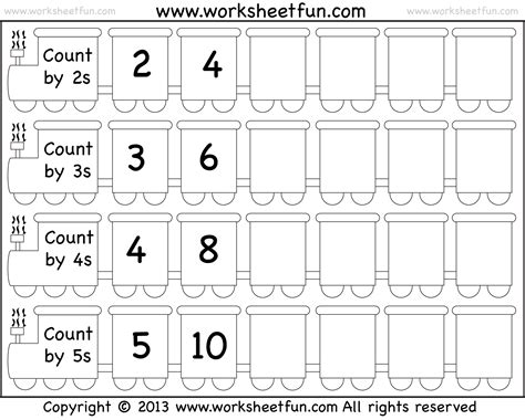 free printable math worksheets counting by 5 multiplying by skip counting worksheets skip counting