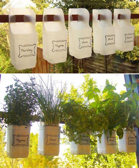 Indoor Container Herb Garden - indoor bottle herb garden from recycled milk bottles grillo designs