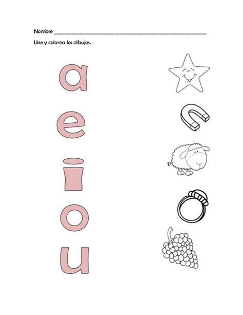 imagenes para colorear las vocales las vocales con dibujos dibujos y vocales