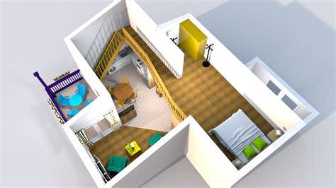 wohnung mit galerie 3d grundrisse renderings