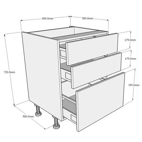 mm pan drawer kitchen base unit buy
