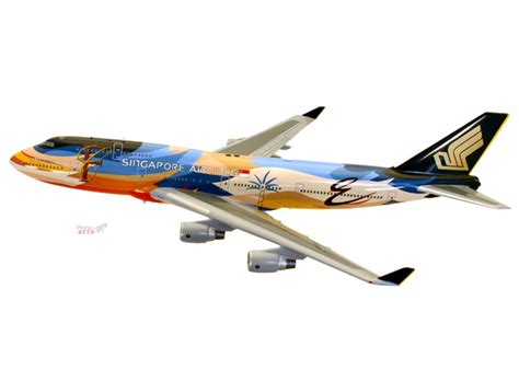 boeing 747 400 singapore airlines tropical livery ebay