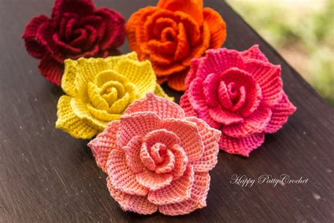 flower applique crochet flower applique by happy patty crochet