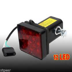 Lighted Hitch Cover 2 Quot Trailer Hitch Receiver Cover With 12 Led Brake Leds
