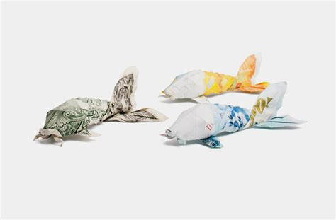 Origami Dollar Koi - one dollar koi for psg by orudorumagi11 on deviantart