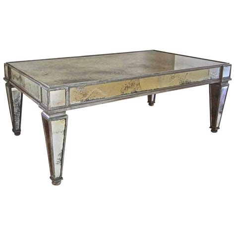 style antiqued mirror cocktail coffee table at 1stdibs
