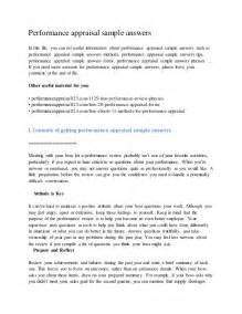 Performance appraisal sample answersin this file you can ref useful
