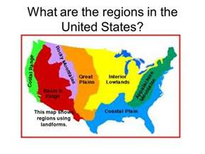 United States Map Landforms by United States Landform Regions Thinglink