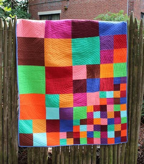 Modern Patchwork Quilt Patterns - custom quilt scattering squares modern patchwork quilt