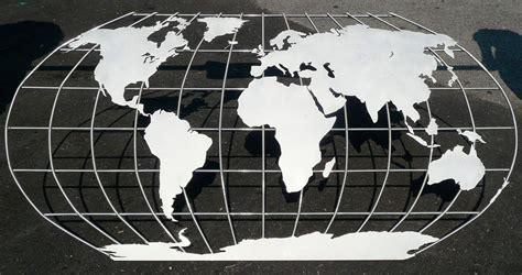 World Wall Mural aluminum metal map wall mural sculpture