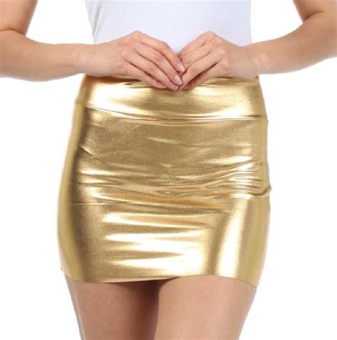 shiny metallic liquid crossdresser mini skirt  colors