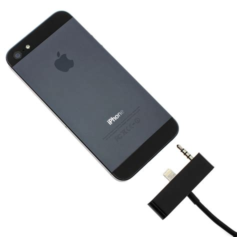 apple iphone 5 5s klinke adapter stecker kabel usb aux auto kabel audio schwarz ebay