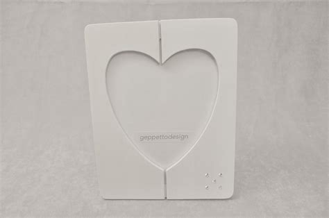 cornice swarovski cornice in legno a forma di cuore con punto luce in