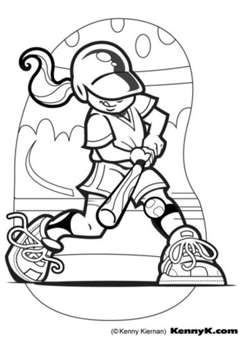 softball coloring page softball pinterest