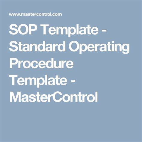 supply sop template best 25 standard operating procedure template ideas on