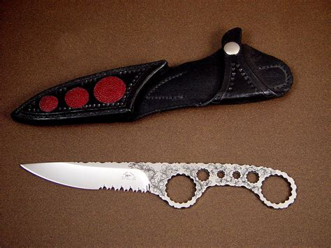 shank knife quot shank quot custom handmade skeletonized knife by fisher