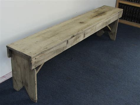 Handmade Wood Benches - lot detail primitive handmade wood bench 2