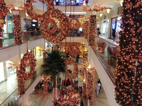 malls decorated in christmas decor picture of power plant mall makati tripadvisor