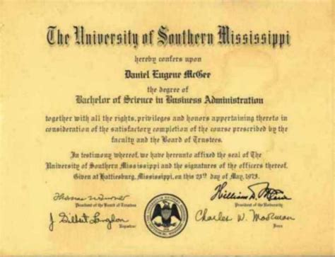 Lsus Mba Degree Requirements by Daniel Mcgee Resume Education Mba Bs Economics