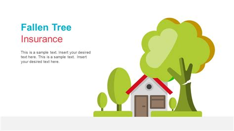 ppt templates for insurance home insurance for fallen tree slide slidemodel