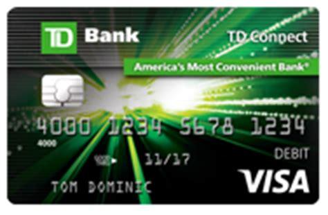 Td Bank Visa Gift Card Fee - td connect reloadable prepaid visa 174 card td bank