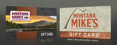 Montana S Gift Card - gift cards montana mike s steakhouse