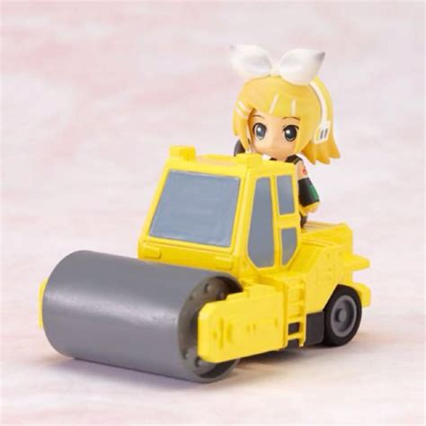 len roller vocaloid rin kagamine and road roller chibi