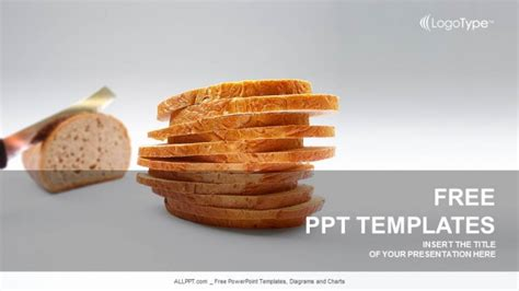 powerpoint themes bread loaf of bread powerpoint templates