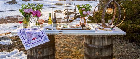 diy wine barrel table rustic wine barrel table diy la crema