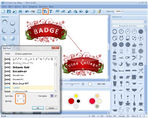 how to make logo how to make a badge with logo by clicks