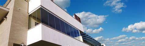 chiusure in vetro per terrazzi pareti in vetro e vetrate scorrevoli tsh service