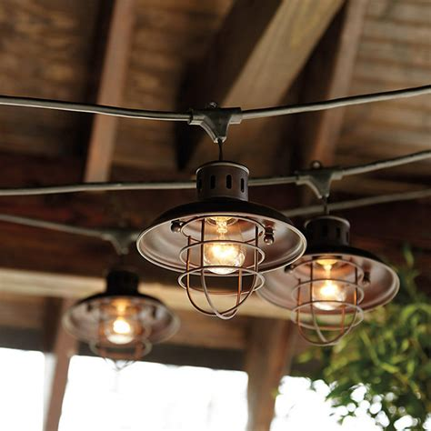 Nautical Shade For Vintage String Lights Industrial Outdoor Vintage String Lights