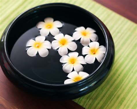 Water Bowl Decoration by Decorating Ideas For Spa With Candle And Flowers Room
