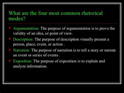 Rhetorical Mode Essay Exles by Rhetorical Modes