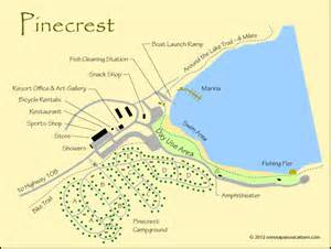 sonora pass vacations pinecrest map