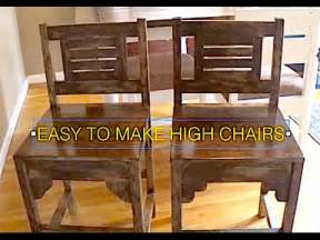 Rustic Kitchen Table And Chair Sets - how to make high chairs kitchen table chairs rustic antique wood chairs youtube