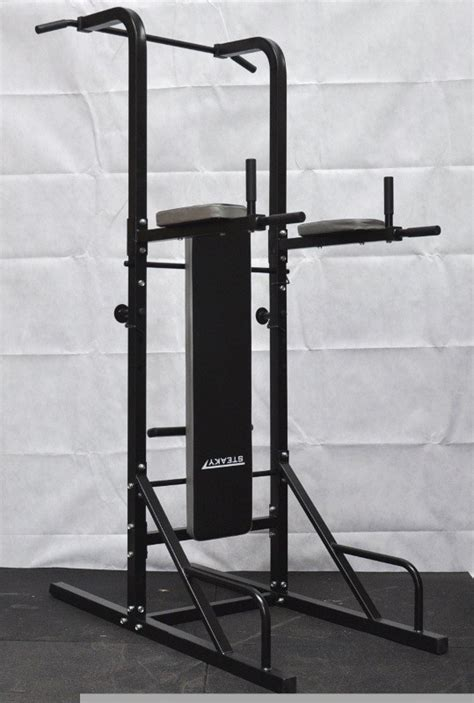 pull up bench power tower chin up station knee dip pull up raise weight