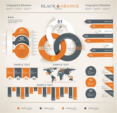 infographic art free black orange infographic vector art the graphic mac