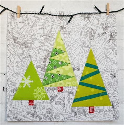 paper christmas tree patterns template paper pieced trees favequilts