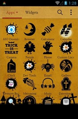 theme line halloween android happy halloween android theme for dodol launcher