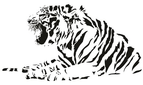 free vector both black and white tiger vector free vector 4vector