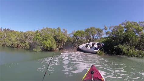 boat crash yeppoon guy is fishing in a quiet creek when suddenly a boat