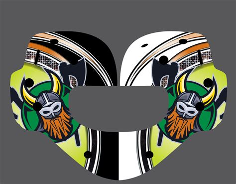 vinyl wrap templates goalie mask vinyl wrap template